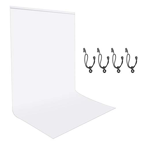 1.8x2.8M White Backdrop for Photo Video shoot for professional photoshoot