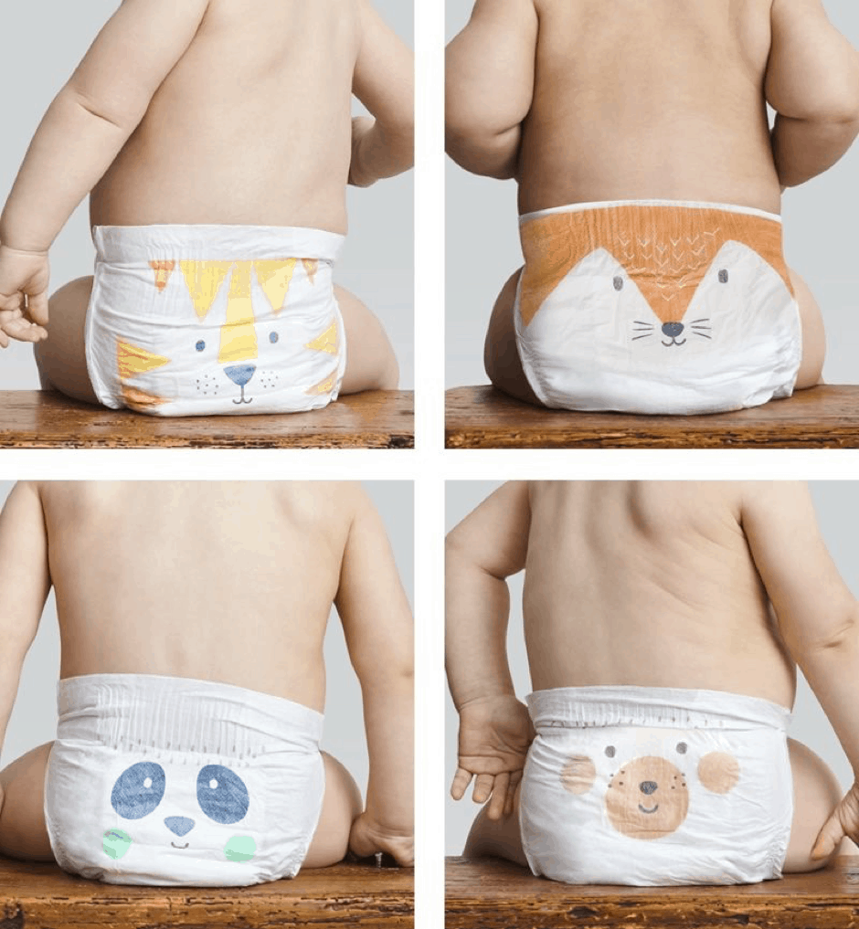assorted bio degradable diapers