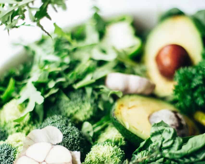 green vegetables are good for detoxifying from effects of diary in your system