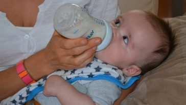 baby making gulping sounds while feeding